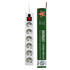 Сетевой фильтр 6гн белый 5м IP20 ГАРНИЗОН (1/30)