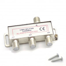 Сплиттер 3-й металл под F-разъём 5-900 МГц