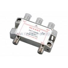 Делитель ТВх4 под F-разъем 5-2500 МГц Спутник REXANT (1/10/100)
