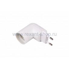 Переходник цокольный AC 220V-E27 с выключателем REXANT (1/1/360)