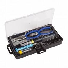 Набор для пайки (USB-паяльник 8Вт, кусачки, тонкогубцы, подставка, припой, отвертка) REXANT (1/1/20)