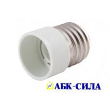 Переходник пластик Е27-Е14, белый
