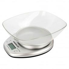 Весы кухонные до 5 кг со съемной чашей серые Ergolux ELX-SK04-C03