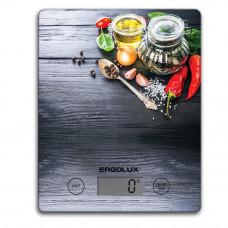 Весы кухонные до 5 кг, 195*142мм черные, специи, Ergolux ELX-SK02-С02