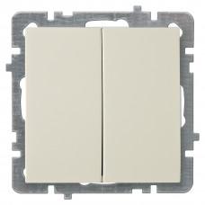 Nilson Крем Выключатель двухклавишный без рамки