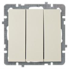 Nilson Крем Выключатель трехклавишный без рамки