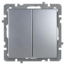 Nilson Серебро Выключатель двухклавишный без рамки
