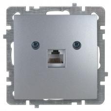 Nilson Серебро Розетка компьютер без рамки
