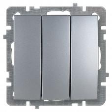 Nilson Серебро Выключатель Трехклавишный без рамки