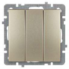 Nilson Золото Выключатель Трехклавишный без рамки