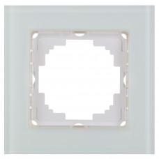 Alegra Белое стекло Одинарная рамка