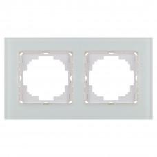 Alegra Белое стекло Двойная рамка