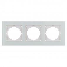 Alegra Белое стекло Тройная рамка