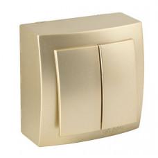 Themis Золото Выключатель двухклавишный
