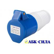 Розетка HT- 213 16А пер. 2Р+РЕ 220В. IP-44 10/100