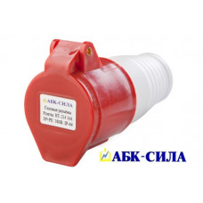 Розетка HT- 214 16А пер. 3Р+РЕ 380В. IP-44