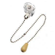 Выключатель для Бра c деревянным наконечником, silver REXANT (10/10/1000)
