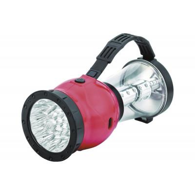 Camelion LED29318 (фонарь акк. 220В кемп, 19/24 LED, 4В 2,3А-ч, пласт, красный, коробка)