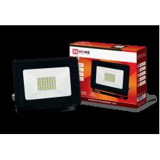 Прожектор сд СДО-8 30Вт черный 6500К 2850Лм IP65 IN HOME (A5379)