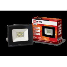Прожектор сд СДО-8 20Вт черный 6500К 1900Лм IP65 IN HOME (A5362)
