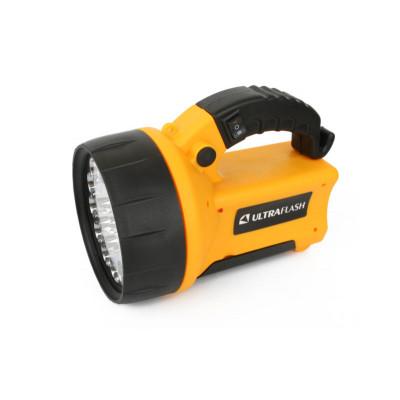 Ultraflash UF3712LED (фонарь аккум 220В/12В, желтый, 19 LED, 4В 2Ач, пластик, коробка)