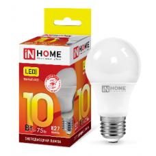 Лампа светодиодная A60 VC 10Вт Е27 теплый 900Лм IN HOME (A1739)
