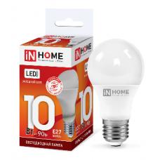 Лампа светодиодная A60 VC 10Вт Е27 холодный 900Лм IN HOME (A4197)