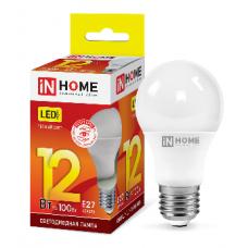 Лампа светодиодная A60 VC 12Вт Е27 теплый 1080Лм IN HOME