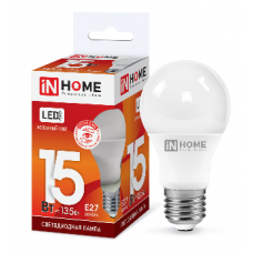 Лампа светодиодная A60 VC 15Вт Е27 холодный 1350Лм IN HOME (A4203)