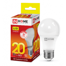 Лампа светодиодная A65 VC 20Вт Е27 теплый 1800Лм IN HOME (A4198)