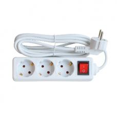 Smart Удлинитель 3х 5м с заземлением и кнопкой 10А InHome 8435