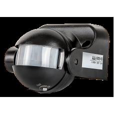 (W) Датчик движения инфракрасный ДД-009-B 1200Вт 180 гр.12м IP44 черный LLT (A3846)