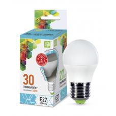 Лампа светодиодная шар 3.5Вт Е27 нейтральный 320Лм АСД (A0593)
