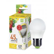 Лампа светодиодная шар 5Вт Е27 теплый 450Лм АСД (A0525)