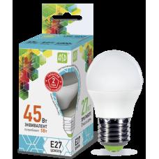 Лампа светодиодная шар 5Вт Е27 нейтральный 450Лм АСД (A0532)