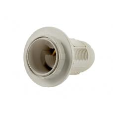 Патрон Е14-ППК пластиковый с прижимным кольцом белый IN HOME (A2460)