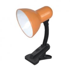 Светильник настольный под лампу СНП-01О на прищепке 40Вт E27 оранжевый (мягкая упаковка) IN HOME