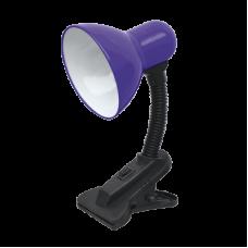 Светильник настольный под лампу СНП-01Ф на прищепке 40Вт E27 фиолетовый (мягкая упаковка) IN HOME