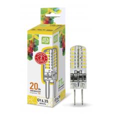 (W) Лампа светодиодная JCD 2Вт GY6,35 теплый 180Лм АСД