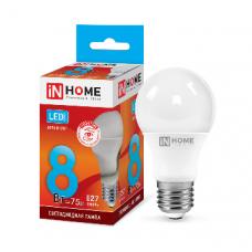 Лампа светодиодная A60 VC 8Вт Е27 нейтральный 720Лм IN HOME (A1678)