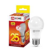 Лампа светодиодная A65 VC 25Вт Е27 теплый 2250Лм IN HOME