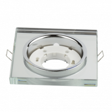 Светильник встраиваемый GX53R-SMR под лампу GX53 КВАДРАТ СТЕКЛО зеркальный IN HOME