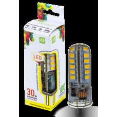 Лампа светодиодная JC 5Вт 12В G4 теплый 450Лм АСД