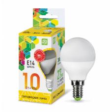 Лампа светодиодная шар 10Вт Е14 теплый 900Лм АСД (A0587)