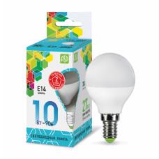 Лампа светодиодная шар 10Вт Е14 нейтральный 900Лм АСД (A0594)