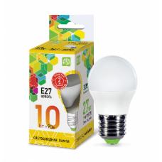 Лампа светодиодная шар 10Вт Е27 телый 900Лм АСД (A0600)