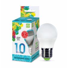 Лампа светодиодная шар 10Вт Е27 нейтральный 900Лм АСД (A0617)