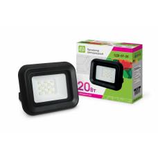 Прожектор светодиодный СДО-7-20 20Вт черный 1200Лм 6500К IP65 АСД