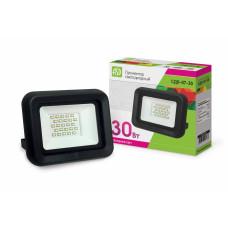 Прожектор светодиодный СДО-7-30 30Вт черный 2400Лм 6500К IP65 АСД