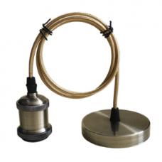 (W) Патрон Е27-ПШ-deco подвесной шнур 1м Бронза IN HOME